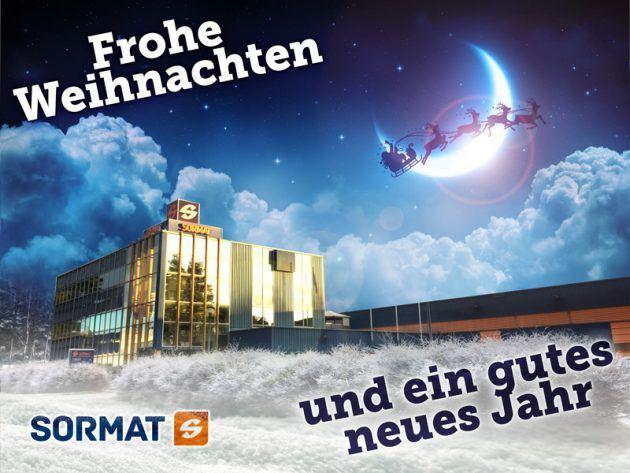 Frohe Weihnachten von Sormat!